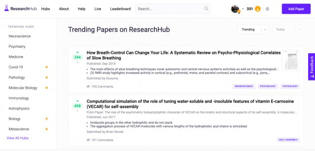 Earn tokens for sharing and discussing scientific articles